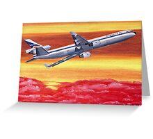 Delta Air Lines MD-11 circa 1994 Greeting Card