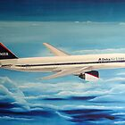 Delta Air Lines Boeing 777-200ER by Hernan W. Anibarro