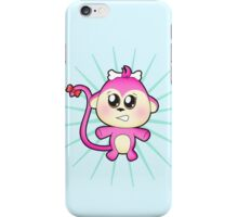 Cute baby zoo animal monkey up to mischief iPhone Case/Skin
