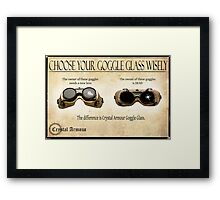 Steampunk:  Goggle Glass Framed Print