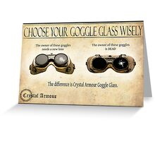 Steampunk:  Goggle Glass Greeting Card