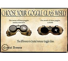 Steampunk:  Goggle Glass Photographic Print