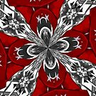 Red Black and White Kaleidoscope by taiche