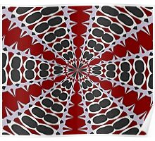 Red Black White Pattern Poster