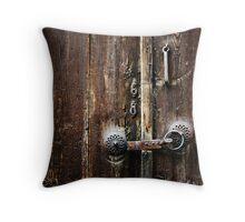 Beypazari Door Handle (Brown) Throw Pillow