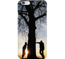 Tree Light People iPhone Case/Skin