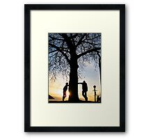 Tree Light People Framed Print