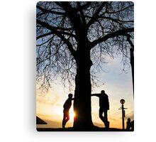 Tree Light People Canvas Print
