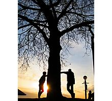 Tree Light People Photographic Print