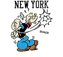 Funny New York Popeye Supreme Photographic Print