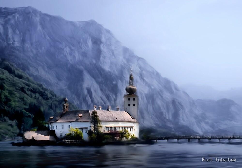 Castle in the lake by Kurt  Tutschek