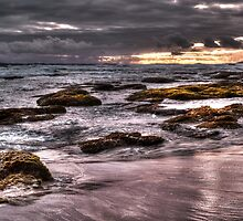 Rocks at Sunset by DavidsArt