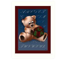 ABC Teddy Art Print