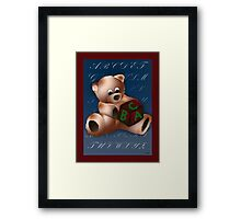 ABC Teddy Framed Print