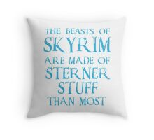 Beasts of Skyrim - blue Throw Pillow
