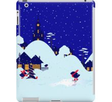 Wonderful winter landscape with bullfinch village iPad Case/Skin