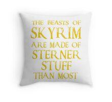 Beasts of Skyrim - gold Throw Pillow