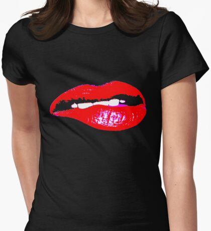 BITE ME!!! Womens Fitted T-Shirt
