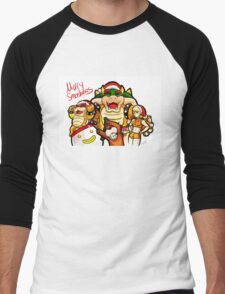 Merry Smashmas Men's Baseball ¾ T-Shirt