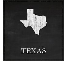 Texas Map Chalk Drawing Photographic Print