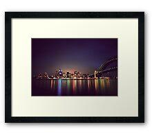 Sydney Harbour Reflection Framed Print