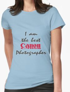 The Best Canon Photographer Womens Fitted T-Shirt