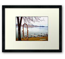 Lake Side Reflections Framed Print