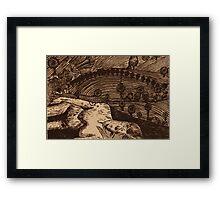 LLAL - Digital printmaking of original etching. Framed Print