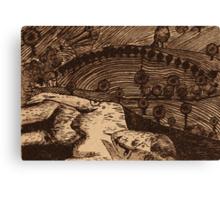 LLAL - Digital printmaking of original etching. Canvas Print