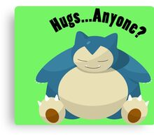 Hugs From Snorlax Anyone? Canvas Print