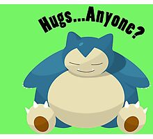 Hugs From Snorlax Anyone? Photographic Print