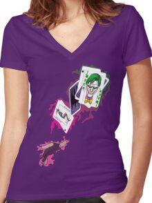 Gambit/Joker Mashup Women's Fitted V-Neck T-Shirt