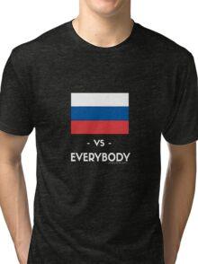 RUSSIA VS EVERYBODY Tri-blend T-Shirt