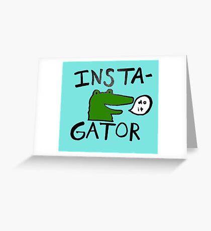 Inst(i)gator Greeting Card