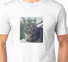 "Cat says....""Bird, what bird?"" Unisex T-Shirt"