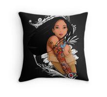 Pocahontas - Inked Throw Pillow