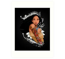 Pocahontas - Inked Art Print
