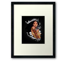 Pocahontas - Inked Framed Print