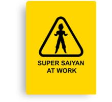 Super Saiyan at work - Road Sign - TShirt Canvas Print