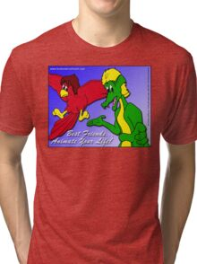 Best Friends... Animate Your Life. Tri-blend T-Shirt