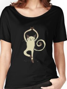 Yoga Cat Women's Relaxed Fit T-Shirt