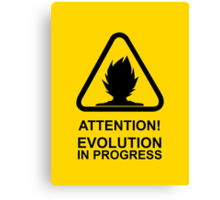 Attention! Evolution in progress - Super Saiyan Tshirt Canvas Print