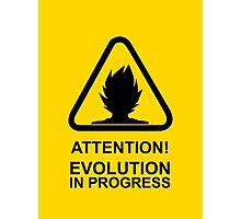 Attention! Evolution in progress - Super Saiyan Tshirt Photographic Print