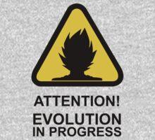 Attention! Evolution in progress - Super Saiyan Tshirt Kids Clothes