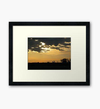 Rural morning Framed Print