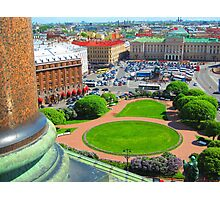 St. Isaac's Square from the Cathedral's Colonnade Photographic Print
