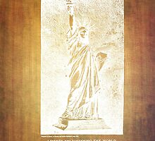 Statue If Liberty Original Patent By Bartholdi 1879 by Eti Reid
