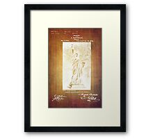 Statue If Liberty Original Patent By Bartholdi 1879 Framed Print