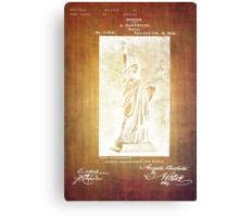 Statue If Liberty Original Patent By Bartholdi 1879 Canvas Print