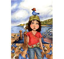 The Bird Girl of Pier 18 Photographic Print